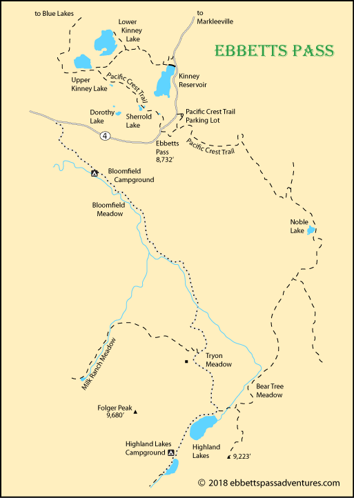 map of Ebbetts Pass, Alpine county, CA