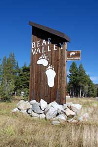 sign at Bear Valley, Alpine County, CA