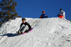 snow sliding hill at Bear Valley, CA